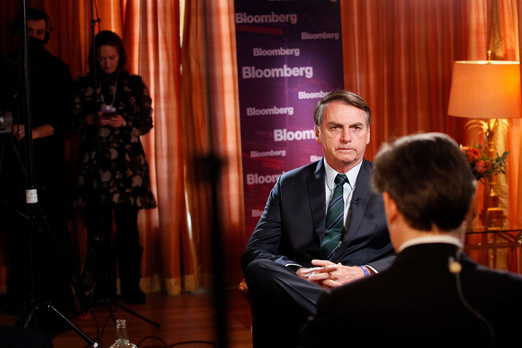 Bolsonaro em entrevista para a Bloomberg