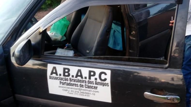 Veículo utilizado pelo suspeito foi apreendido pela PM (Foto: PMMG)