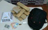 Materiais estavam na mochila dos suspeitos — Foto: Polícia Militar Rodoviária/Divulgação