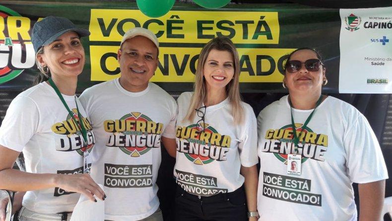 Ação Contra a dengue visou alertar a população sobre os riscos de doenças como a Dengue, Zica Vírus e chikungunya (Foto: Marilane Vilela)