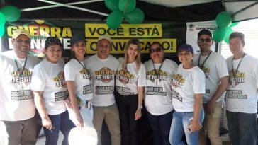 Equipe realizou uma grande ação conjunta de prevenção à dengue no município (Foto: Marilane Vilela)