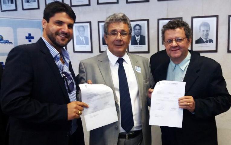 (Esq) João Makhoul, Luiz Humberto Carneiro e Gilvan Gama