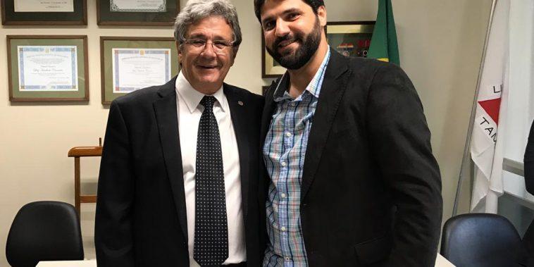 (Esq) Luiz Humberto Carneiro e João Makhoul