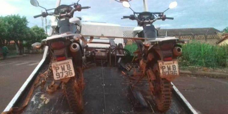 Motos clonadas foram apreendidas em Capinópolis (Foto: PMMG/Divulgação)