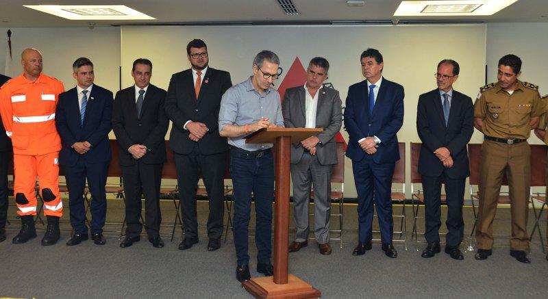 Governador Romeu Zema sanciona lei (Foto: Ascom)