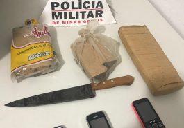 Materiais apreendidos pela Polícia (Foto: PMMG/Divulgação)