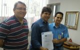 (esq) Jaisson Souza, Cleidimar Zanotto e Edivaldo Salgado (Foto: Divulgação)