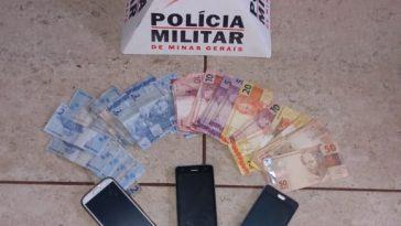 Material apreendido pelos militares (Foto: PMMG)