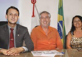 (Esq) Luciano Belchior, Edward Sarles e Neide Martins (Foto: Paulo Braga)