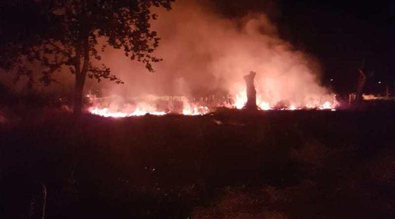 Incêndio foi combatido pelos Bombeiros de Ituiutaba (Foto: Bombeiros/Divulgação)
