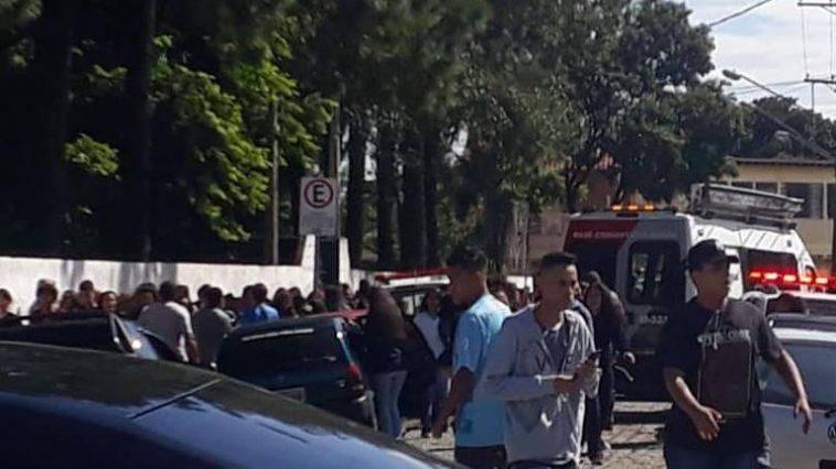 Escola Raul Brasil, em Suzano, onde crianças foram baleadas em um atentado - Reprodução/Redes Sociais