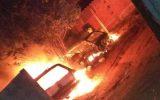 Veículos ficaram destruídos (Foto: Bombeiros/Divulgação)