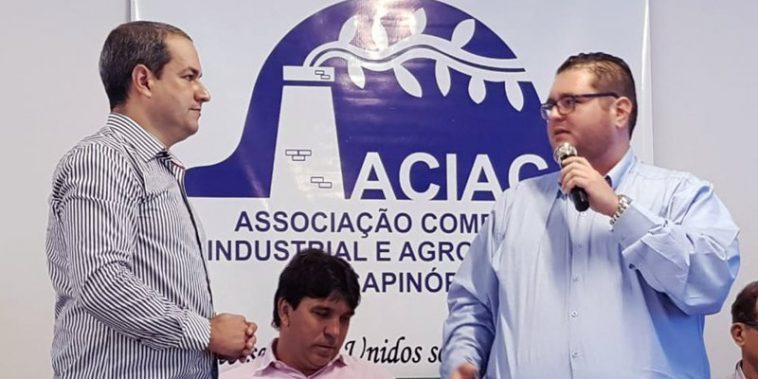 (Esq) Anderson Clayton e Luiz Fernando de Oliveira (Foto: Paulo Braga)