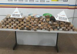 60kg de maconha foram apreendidos (Foto: PMMG)