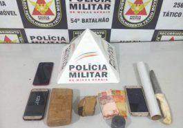 Materiais apreendidos (Foto: PMMG/Divulgação)