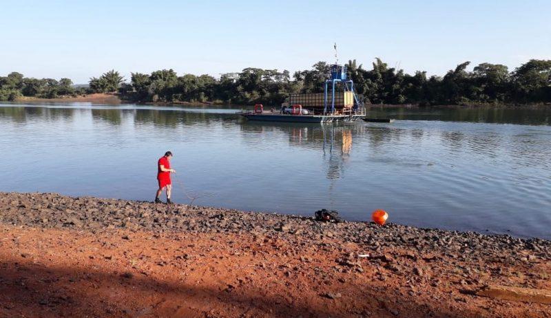 Local onde o corpo foi encontrado (Foto: Bombeiros/Divulgação)