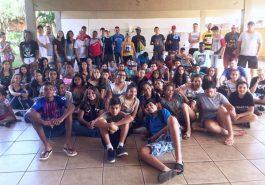 Delegação de Santa Vitória foi a primeira a chegar para a disputa da micorregional do JEMG (Foto: Divulgação)