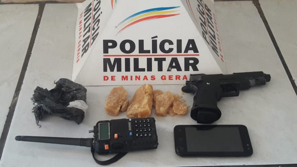 Materiais apreendidos pelos militares (Foto: PMMG/Divulgação)
