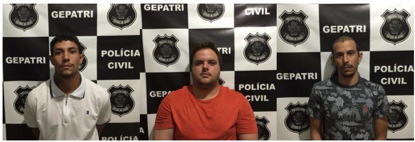Willian Gero Nozela Silva, de 30 anos, Alexandre da Costa Belo, 27 anos, e  Rafael Ferreira Coelho da Silva, 20 anos,