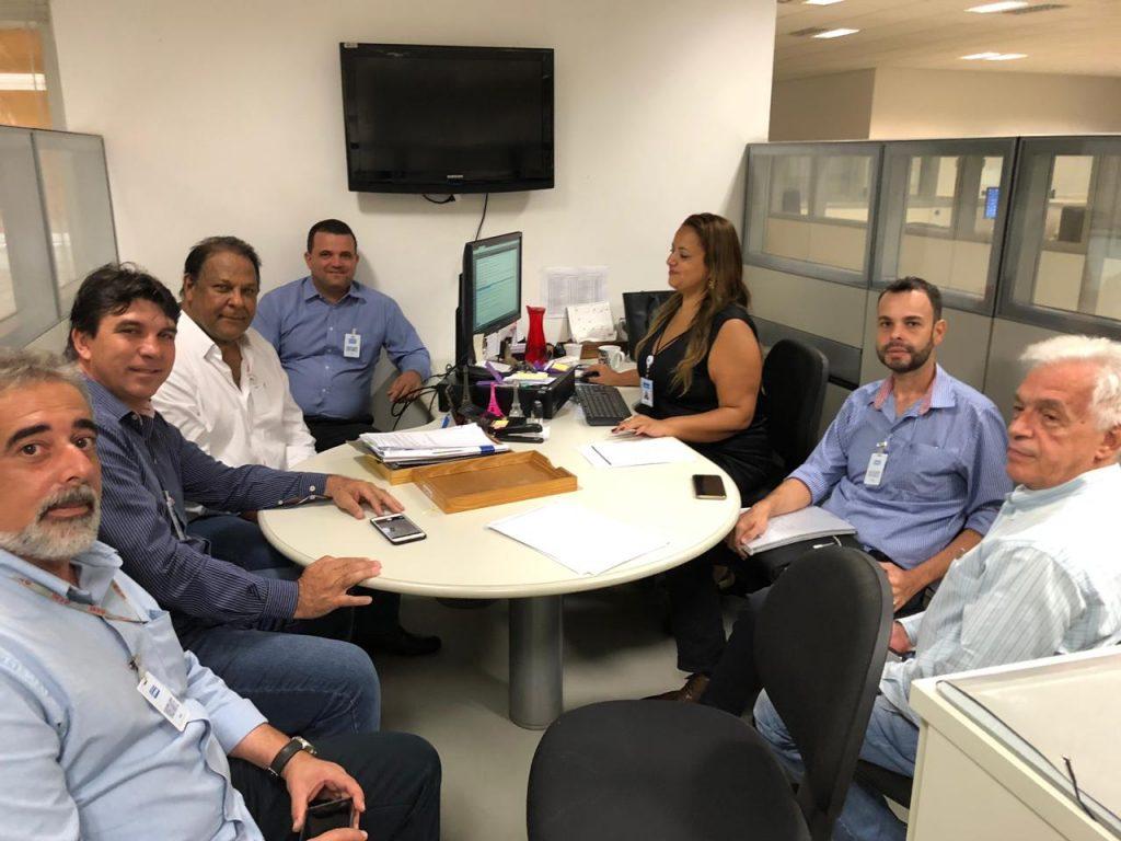 Encontro do prefeito de Capinópolis com a diretoria da Copasa ocorreu na manhã desta segunda-feira (01) - (Foto: Divulgação)