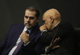 Presidente do Supremo, Dias Toffoli, designou o ministro Alexandre de Moraes para presidir o inquérito - Arquivo/Agência Brasil