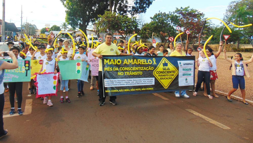 Secretaria de Educação abordou a campanha 'Maio Amarelo' por um trânsito melhor