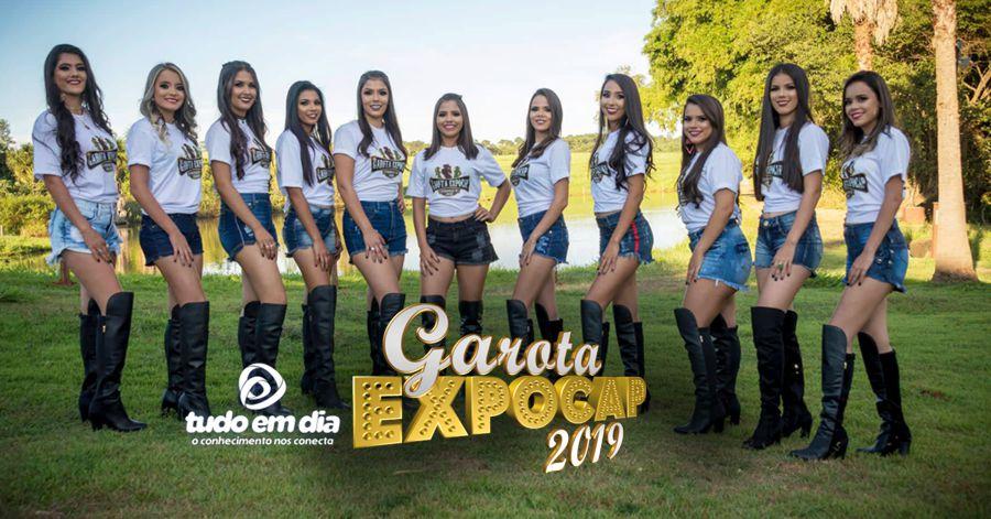 Candidatas ao título de 'Garota Expocap' em 2019 (Foto: Wilke Júnior)