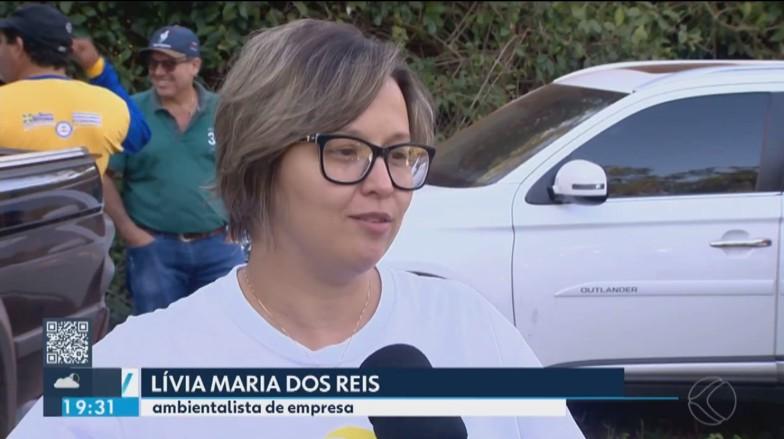 Lívia Reis durante entrevista cedida à Tv Integração (Foto: Reprodução/Tv Integração)