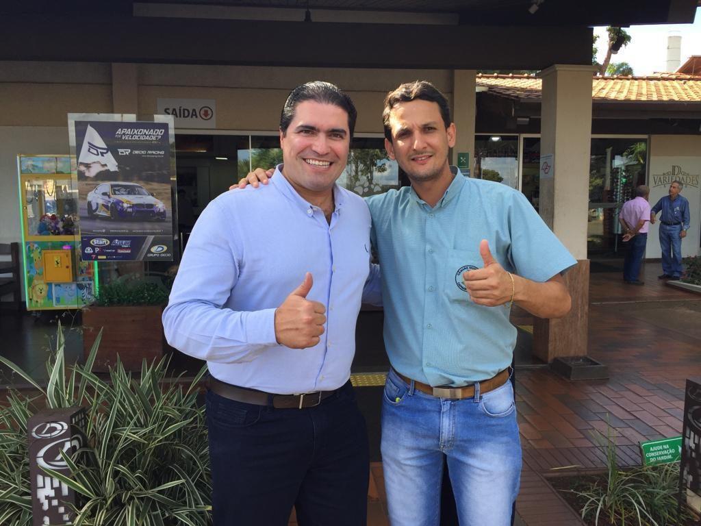 (esq) Newton Cardoso Jr e Luciano Belchior (Foto: Divulgação)