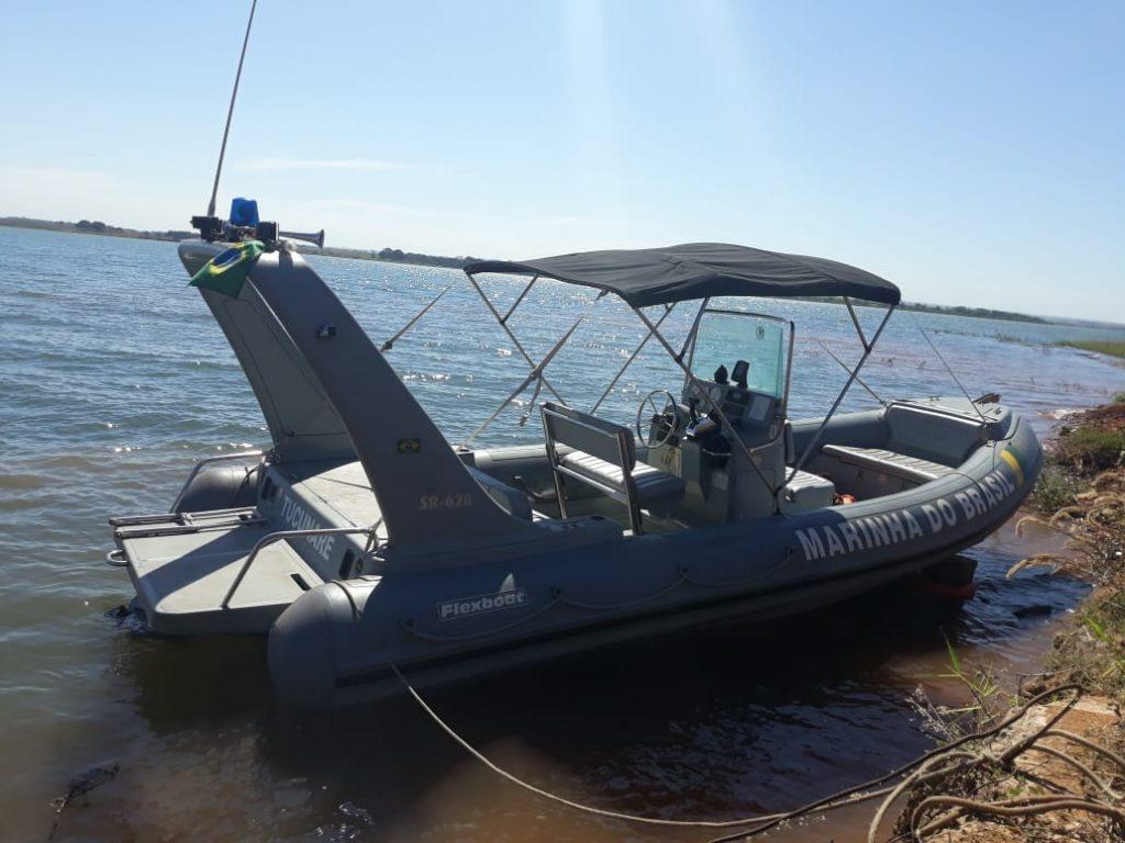 A Maria do Brasil foi acionada, já que trata-se de um acidente com embarcação (Foto: Bombeiros/Divulgação)