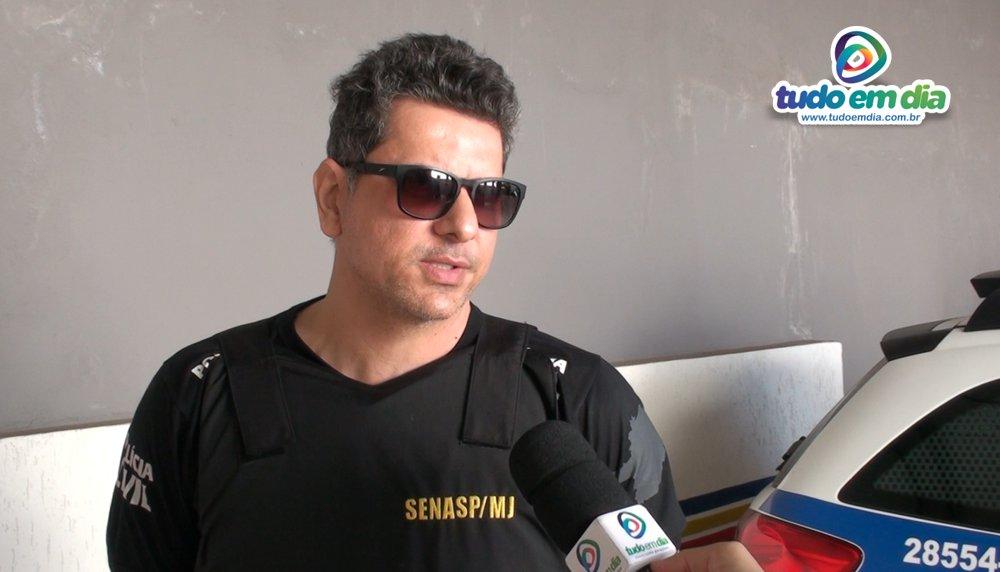 Cleiton Viana, delegado da Polícia Civil da Comarca de Capinópolis durante entrevista ao Tudo Em Dia (Foto: Tudo Em Dia)
