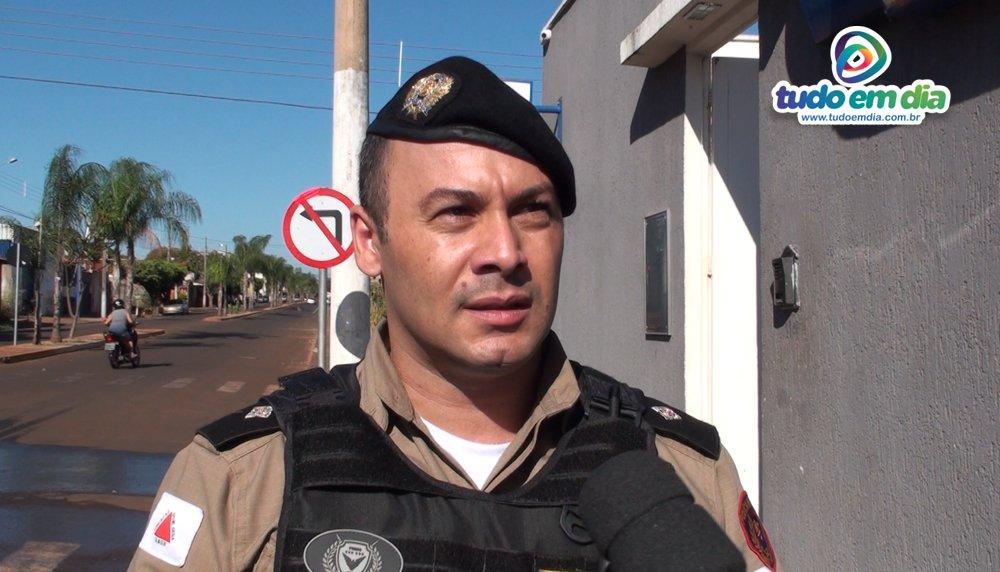 Renato Medeiros, comandante do 5º Pelotão Pm de Capinópolis durante entrevista ao Tudo Em Dia (Foto: Paulo Braga/Tudo Em Dia)