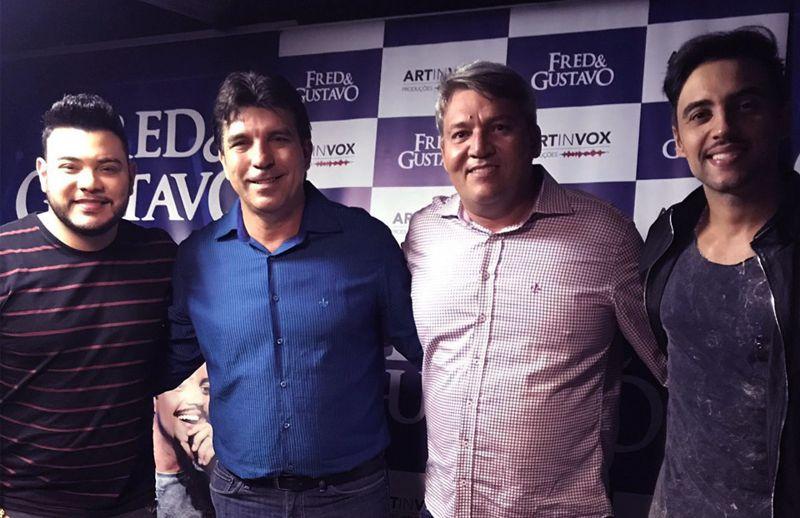(Esq) Fred, Cleidimar Zanotto, Jaisson Souza e Gustavo