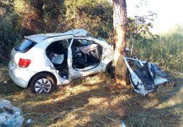 O motorista do veículo teria perdido o controle da direção (Foto: Bombeiros/Divulgação)