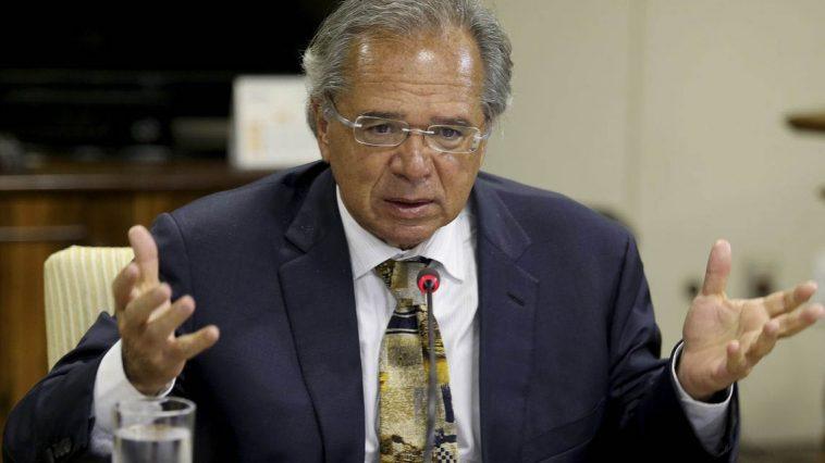 Brasilia DF 30 01 2019 O ministro da Economia, Paulo Guedes, durante reunião com dirigentes da Frente Nacional de Prefeitos (FNP).foto Wilson Dias/Agencia Brasil