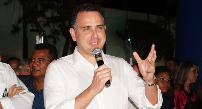 Rodrigo Pacheco durante a Expocap em 2018(Foto: Paulo Braga)