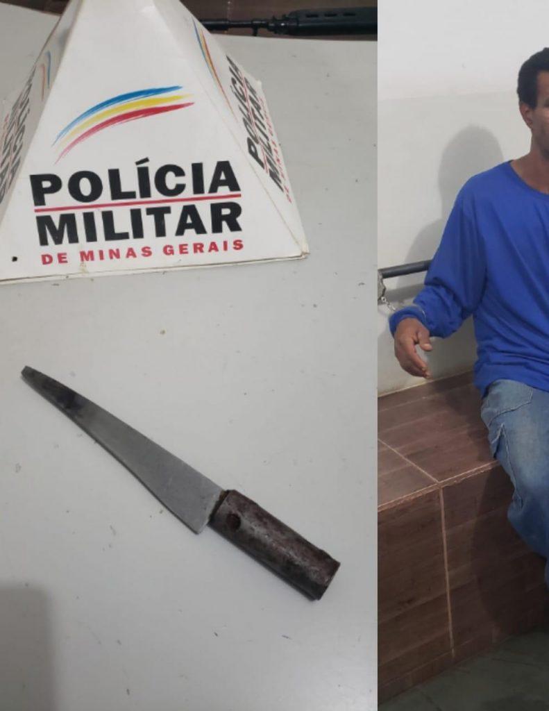 Homem de 50 anos foi preso (Foto: PMMG)
