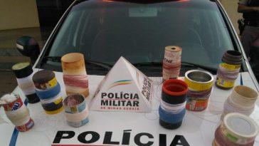 Material apreendido (Foto: PMMG/Divulgação)