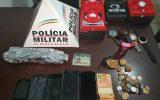 Material apreendido (Foto: Divulgação PMMG)