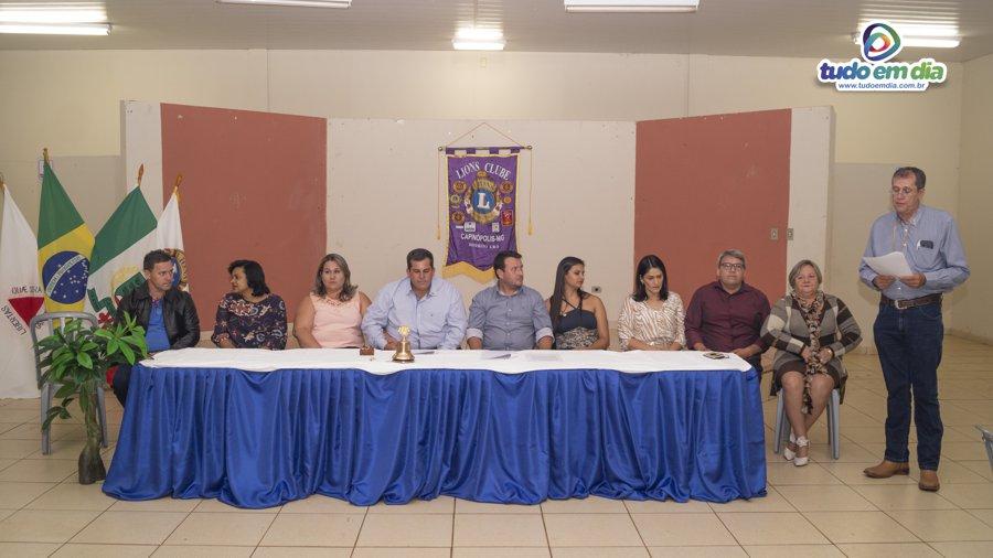 Nova diretoria do Lions Clube tomou posse em Capinópolis (Foto: Paulo Braga)