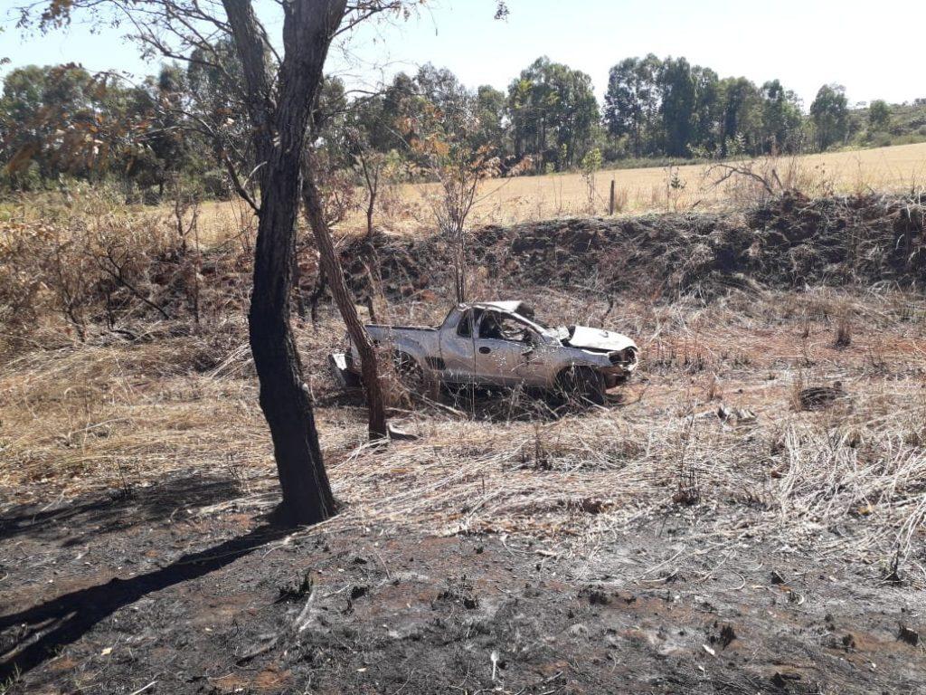 Capotamento ocorreu nas proximidades do km 495 (Foto: PRF)