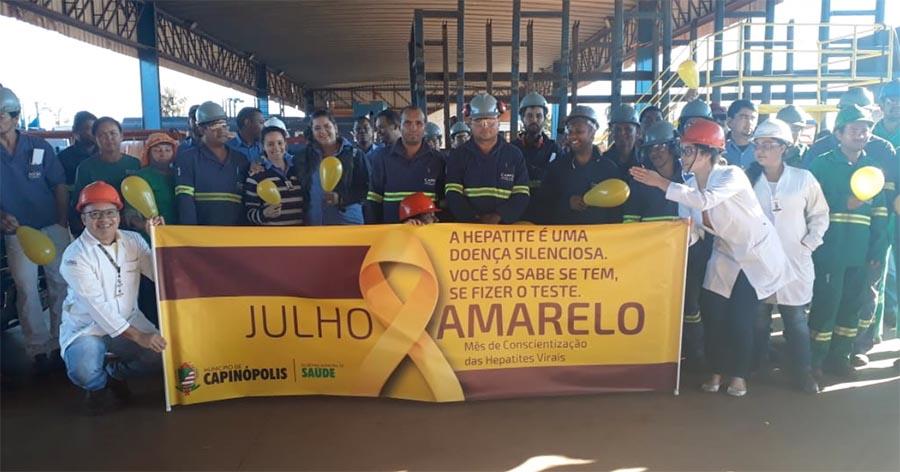 Ação 'Julho Amarelo' foi realizada na Usina CRV Industrial