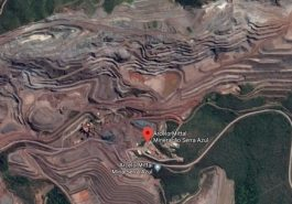 Barragem pertence à empresa Arcelormittal Google Street View / Reprodução