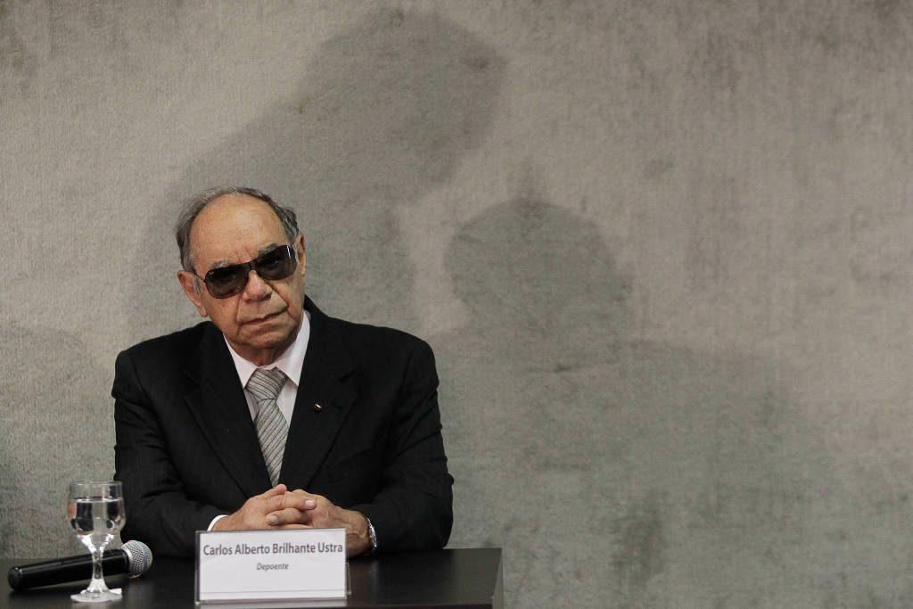 O coronel reformado e ex-comandante do DOI-Codi-SP Brilhante Ustra na primeira audiência pública promovida pela Comissão Nacional da Verdade - Sergio Lima - 10.mai.2018 /Folhapress