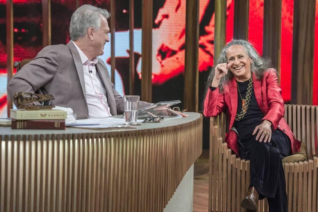 Maria Bethânia conversa com Pedro Bial - Divulgação