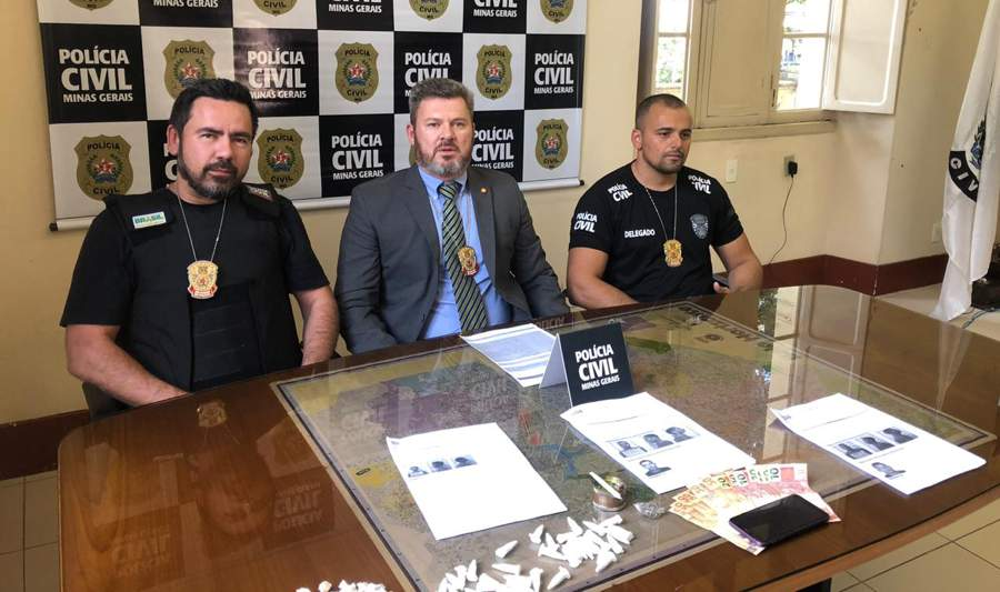 Wagner Sales, Marcelo Cali e Felipe Fonseca (Foto: PCMG/Divulgação)