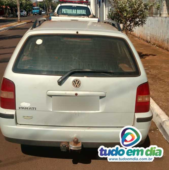 Veículo de caseiro foi recuperado (Foto: PMMG/Divulgação)