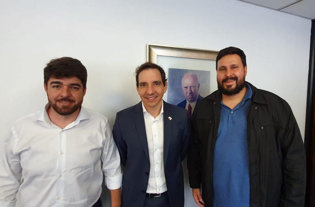 Zé Vitor, Marco Aurélio Barcelos e Raul Belém (Foto: Assessoria)