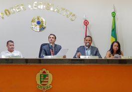 (Esq) Caetano Neto da Luz, Luciano Belchior, Ivo Américo e Neide Aparecida (Foto: Paulo Braga)