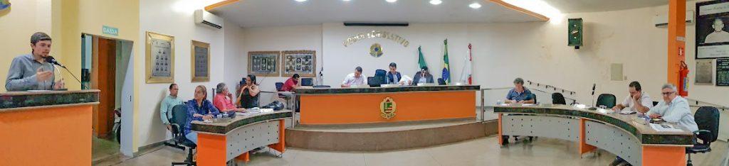 Câmara Municipal de Capinópolis durante sessão ordinária em 16 de setembro de 2019 (Foto: Gabriel Kazuto)